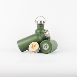 Herbruikbare RVS waterfles Retulp groen