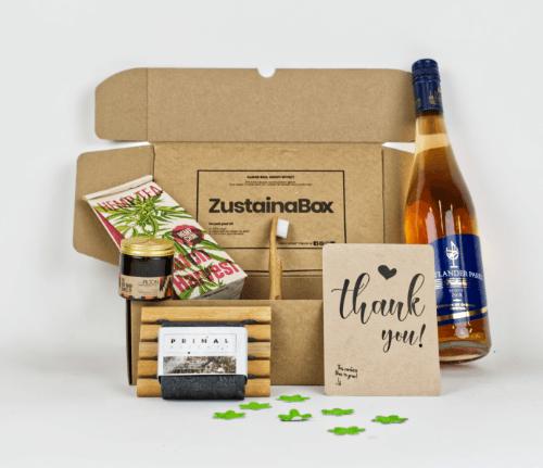 Klein duurzaam kerstpakket ZustainaBox optie 2