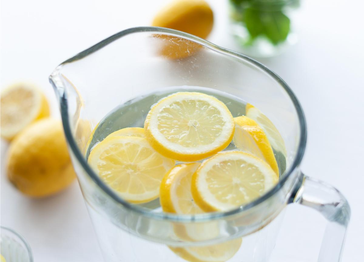 Fruitwater citroen met munt