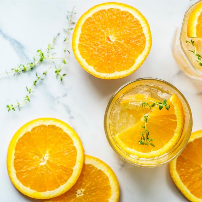 Recepten fruitwater sinaasappel tijm