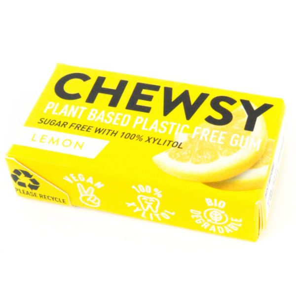 Plasticvrije kauwgom lemon chewsy xylitol