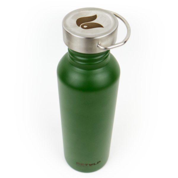herbruikbare waterfles staal retulp groen