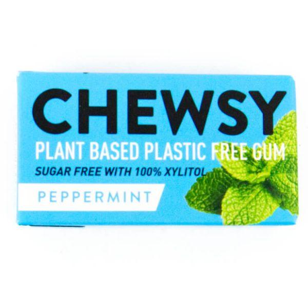 plantaardige kauwgom chewsy peppermunt milieuvriendelijk