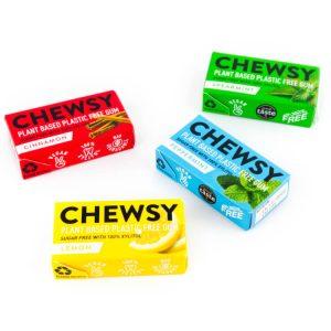 plasticvrije kauwgom Suikervrij aspartaamvrij chewsy