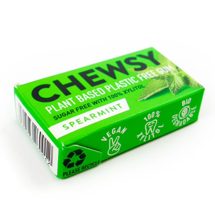plantaardige plasticvrije kauwgom chewsy spearmint