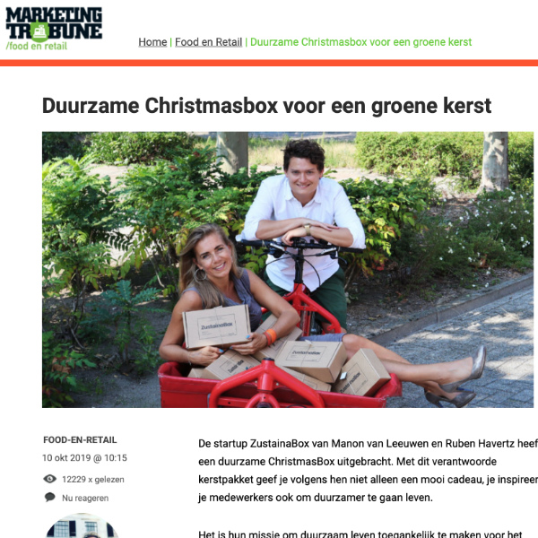 MarketingTribune ZustainaBox artikel