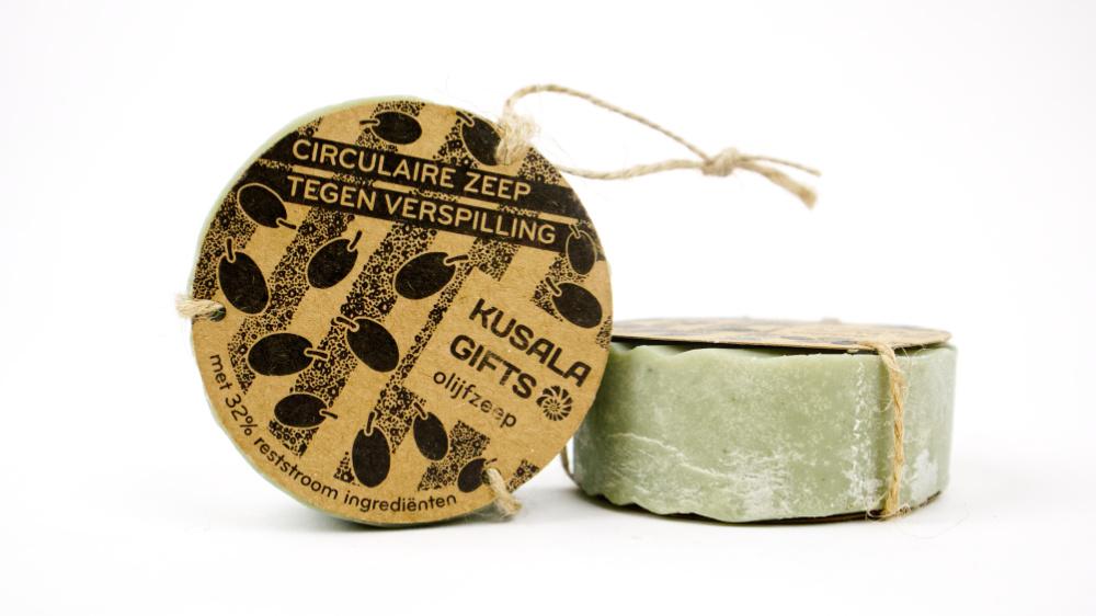 Circulaire olijfzeep van Kusala Gifts