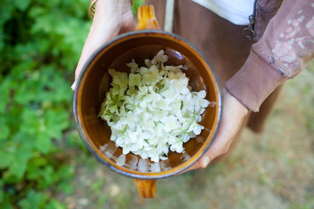 werfzeep jasmijn bloemen