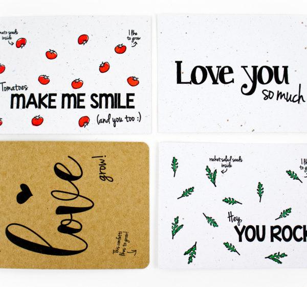 duurzame valentijnskaarten bloom your message