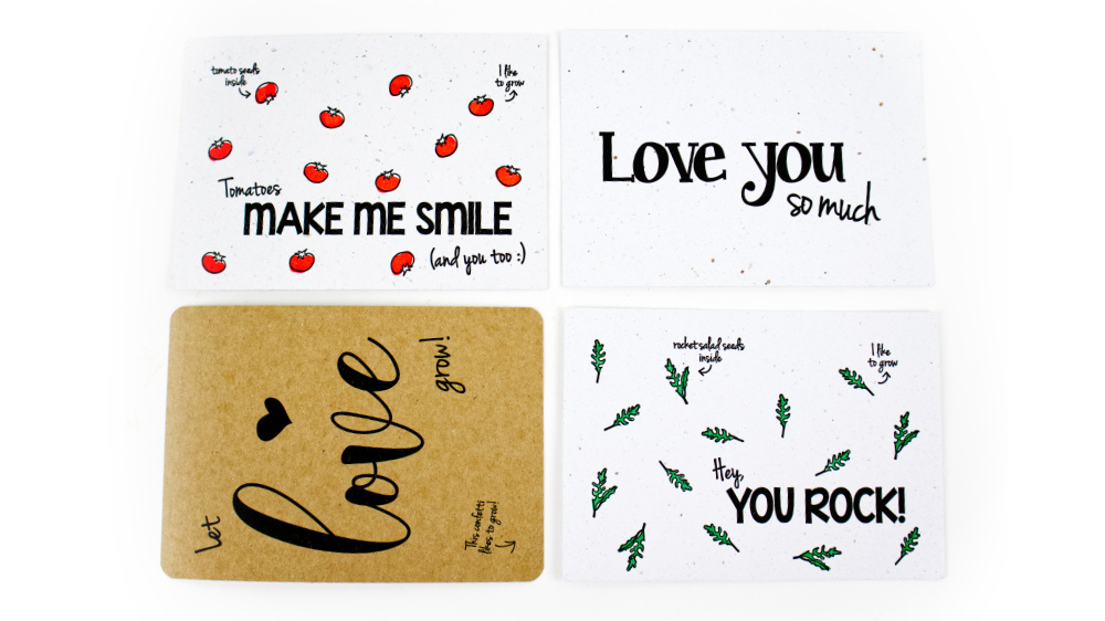duurzame valentijnscadeau kaarten bloom your message