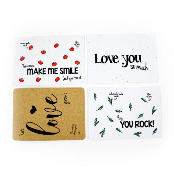 bloom your message kaarten zaadjes bloemen