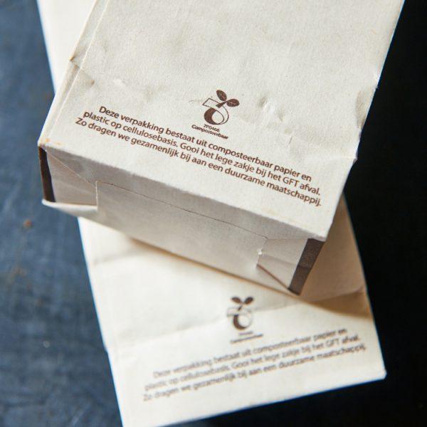 duurzaam composteerbare verpakking vegan koek