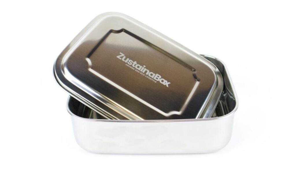 Plasticvrije herbruikbare stalen lunchbox ZustainaBox