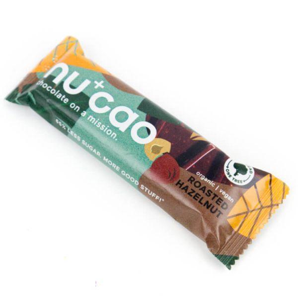 Eco chocolade vegan hazelnoot reep nucao