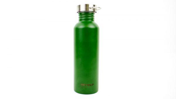 groene herbruikbare rvs waterfles
