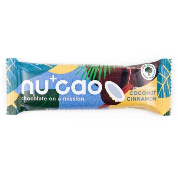 nucao chocolade reep smaak cocosnoot kaneel