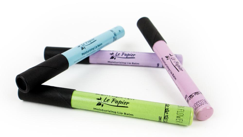 Zerowaste plasticvrije lippenbalsem Le Papier