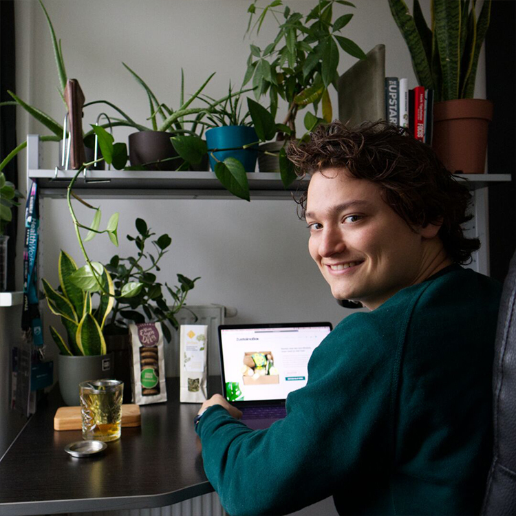 Duurzaam thuiswerken Ruben