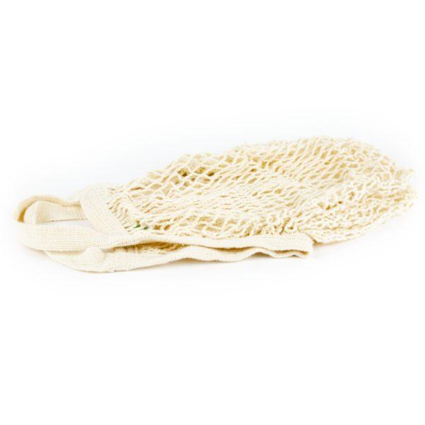 Herbruikbaar Nettasje boodschappen biokatoen wit