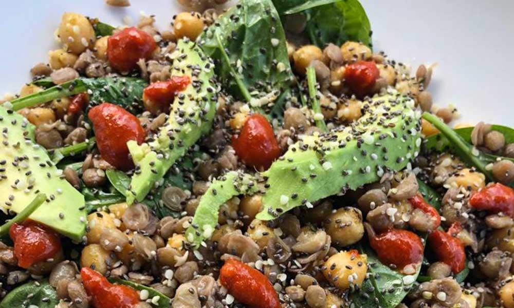 vegan recepten voor lunchbox linzensalade