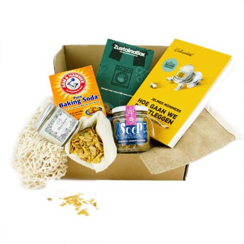 Ecologische doos met producten mvo