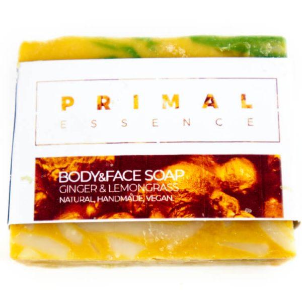 Natuurlijke zeep gember geur plasticvrij