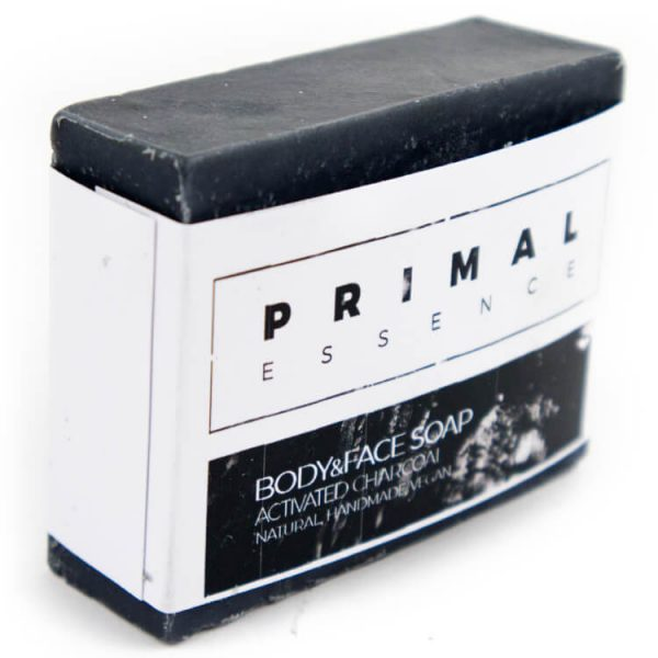 Vegan Charcoal soap body face PrimalEssence