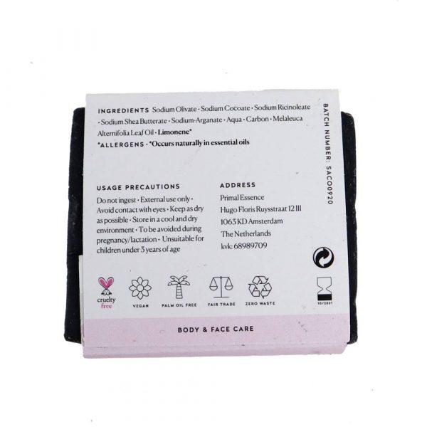 primal duurzame zeep activated charcoal 4 LR