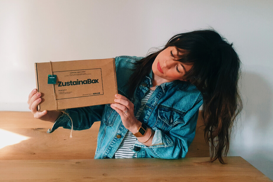 Saskia met zustainabox eco lifestyle