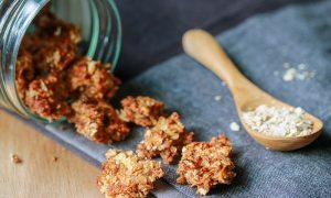 vegan koekjes met granola