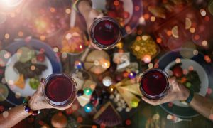 vegan wijncocktail kerstdiner