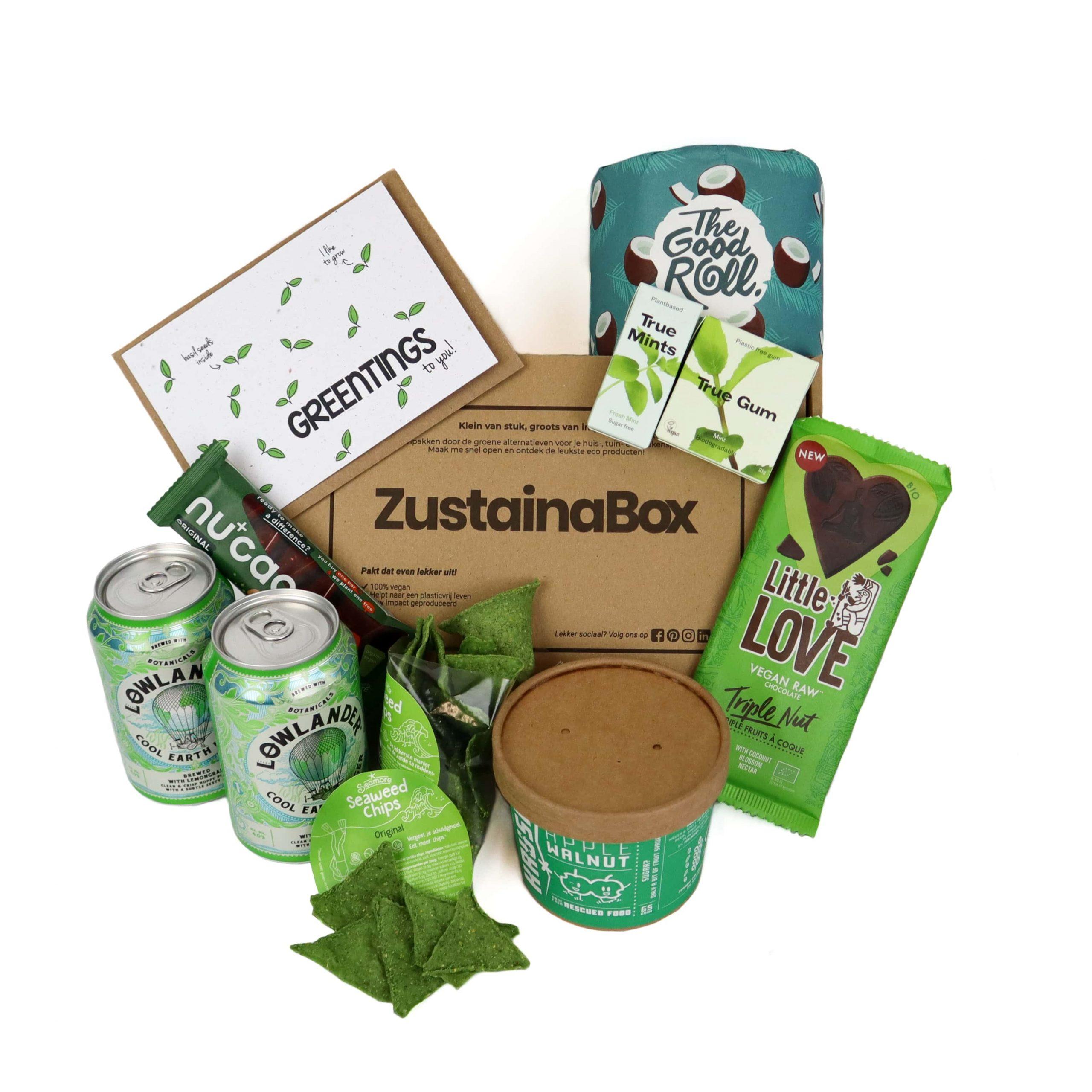 Duurzame groene borrelbox