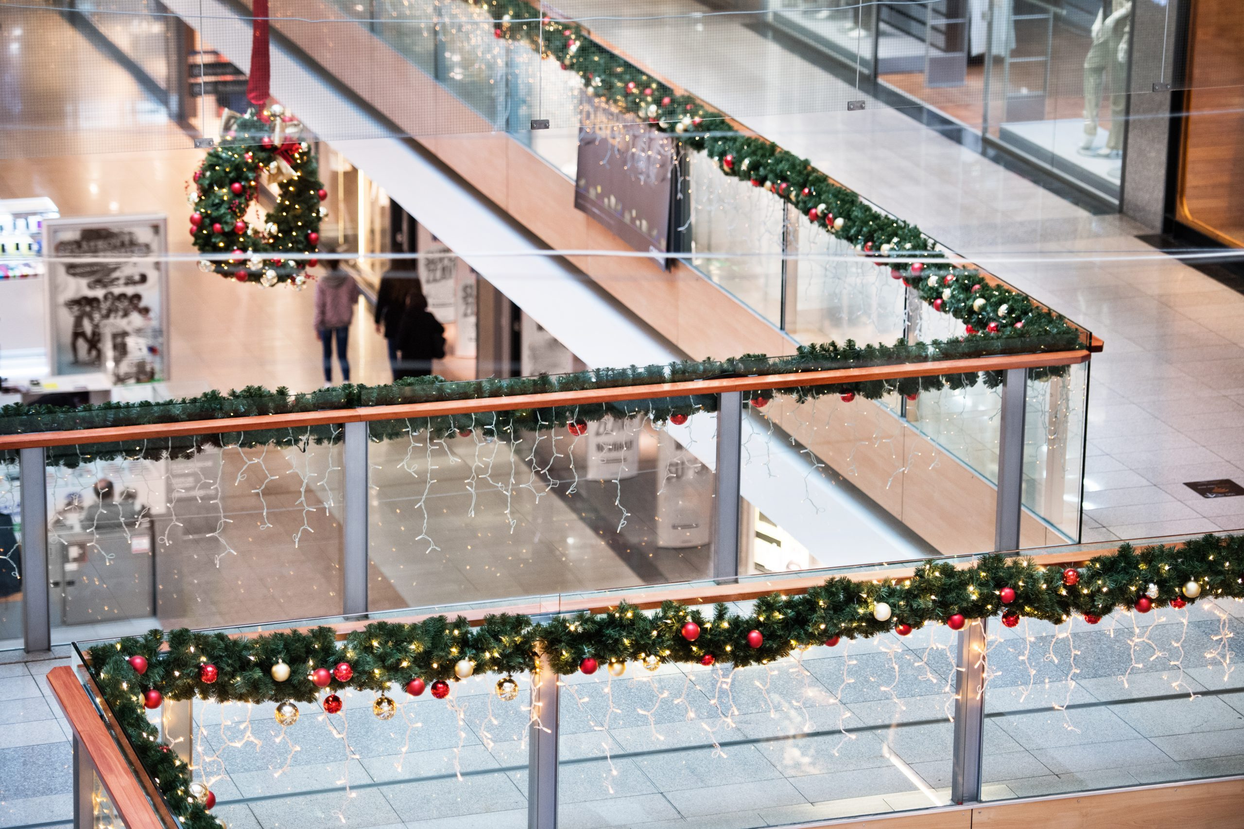 shopping center at christmas time PH33LXA scaled