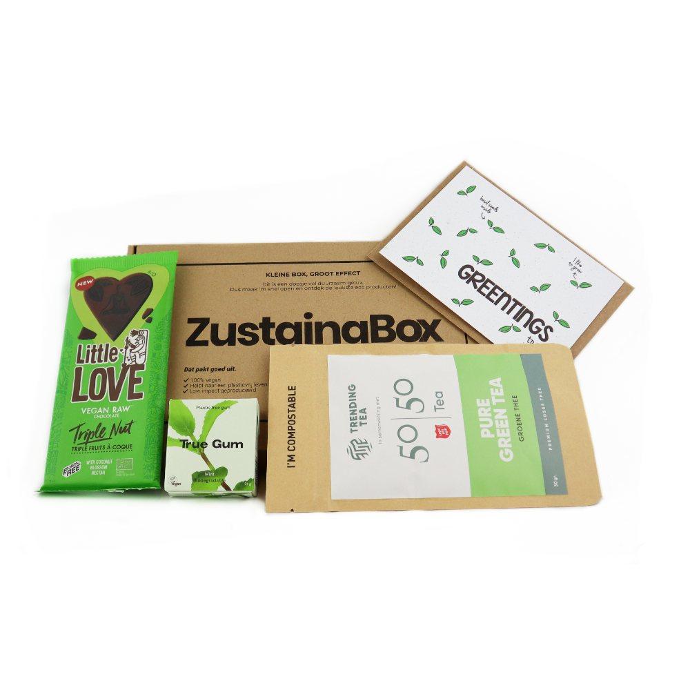 Groen choco brievenbusdoos duurzaam