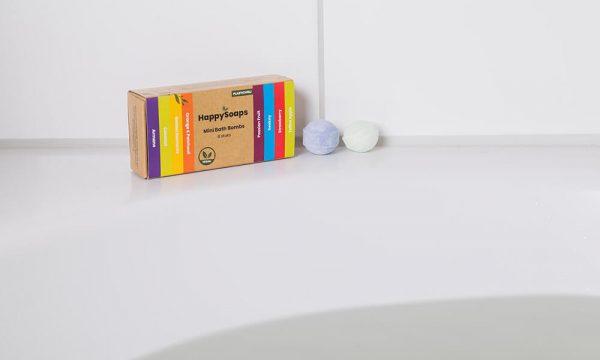 natuurlijke bath bombs HappySoaps badkuip
