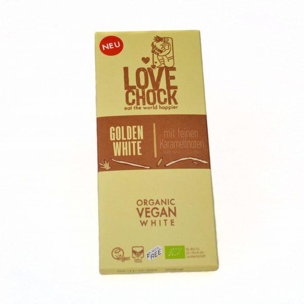 Lovechock Golden vegan chocolade