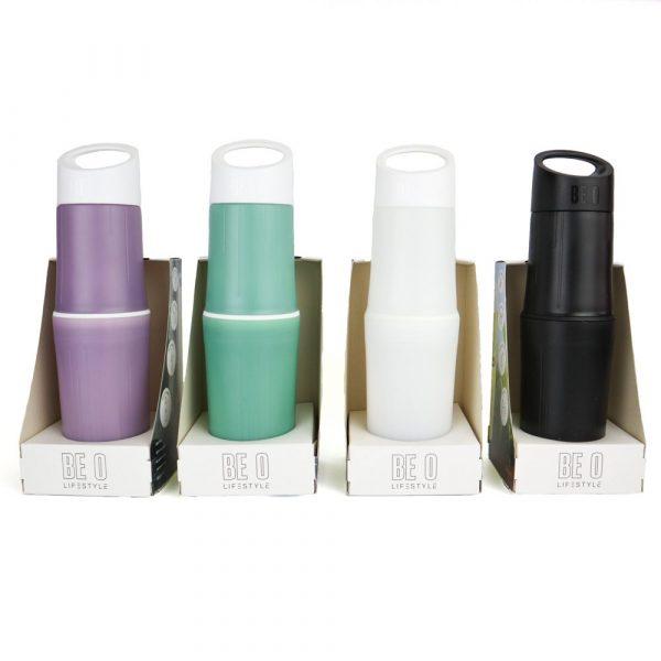 plasticvrije-drinkfles-zwart-paars-groen-wit