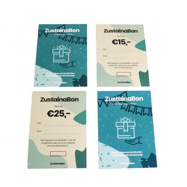duurzame cadeaubon ZustainaBox