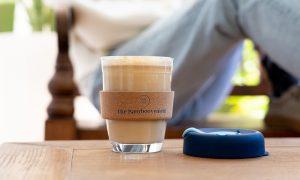 The Bamboovement glazen koffiebeker