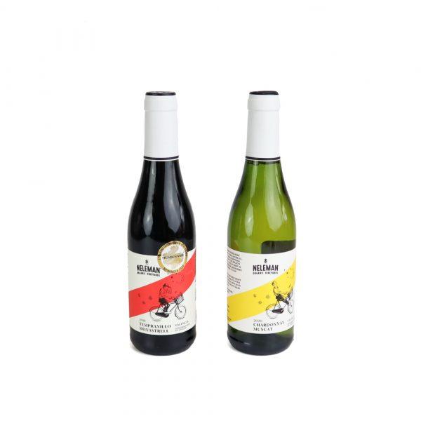 Biologische witte en rode wijn Neleman