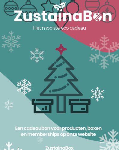 ZustainaBon Cadeaubon Kerst (duurzaam cadeau) - Zustainabox